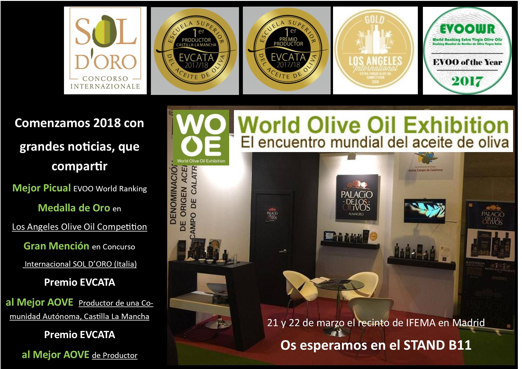 World Olive Oil Exhibition 2018 – stand B11